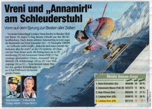Zeitungsartikel aus der Heute vom 28.2.2012