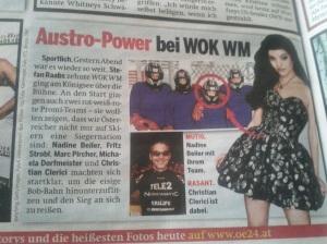 Österreich-Artikel vom 11.03.12 über die Wok-WM