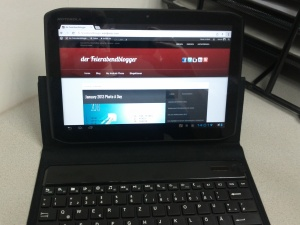 Tastatur montiert